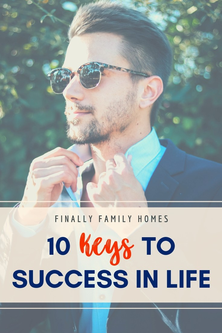 10 Keys to Success in Life - pinnable